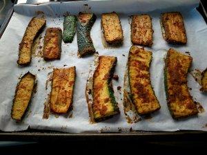 Courgette sandwich slices