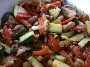 Bean salad with BB dressing