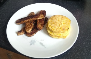 Tempeh 2 and sweetcorn fritters