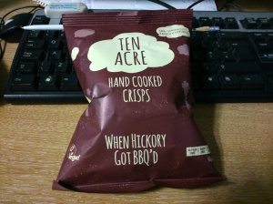 When Hickory Got BBQ'd - photo taken on my desk at work, the crisps were for lunch today...
