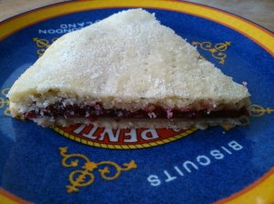Raspberry, Blackberry and Basil Jam Slice