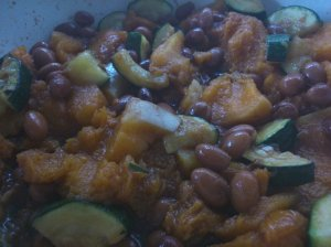 Smoky, sweet, butternut beans