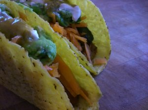 Butternut bean and guacamole tacos