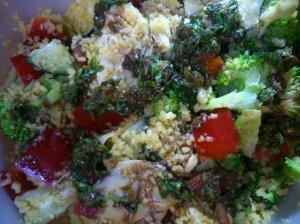 Artichoke salad with coriander and caper dressing