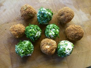 Vegan yoghurt 'cheese' balls!
