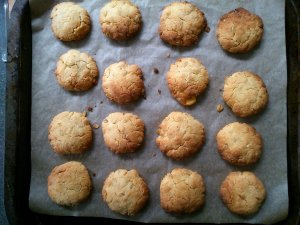 Coconut marzipan biscuits