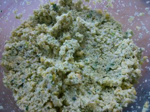 the falafel mixture