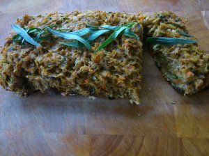 Herby meatless loaf