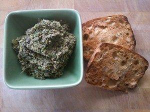 Olive, mushroom and basil spread
