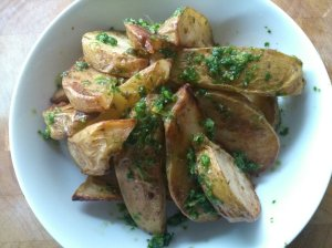 Smoky spiced potato wedges