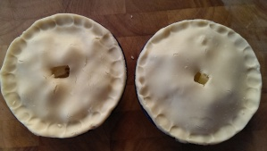 The pies, before baking