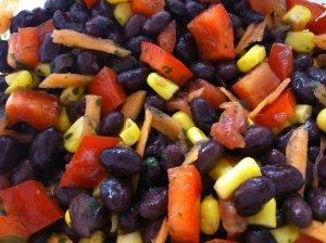 Pretty black bean salsa