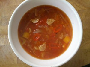 Tomato, garlic and chilli soup