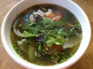 Vietnamese style vegetable soup