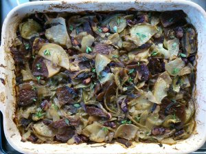 Vegetable and herb bake