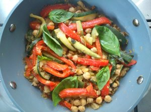 Chickpeas with herbs