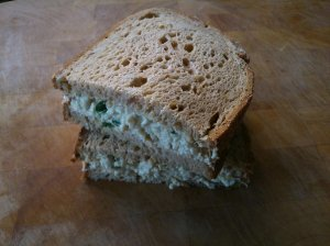 Vegan 'egg' mayo sandwiches!